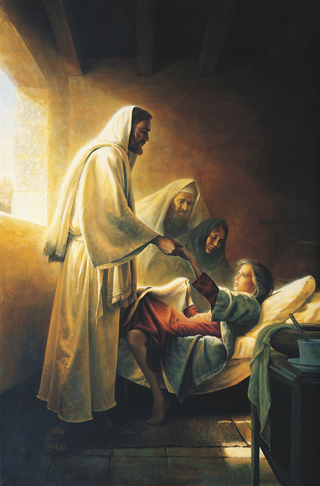 Jesus Blessing Jairus's Daughter