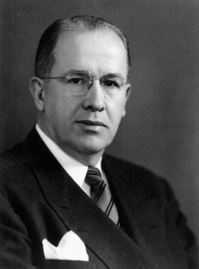 A portrait of President Ezra Taft Benson around 1949.
