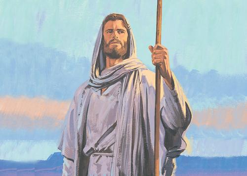 Jesus standing