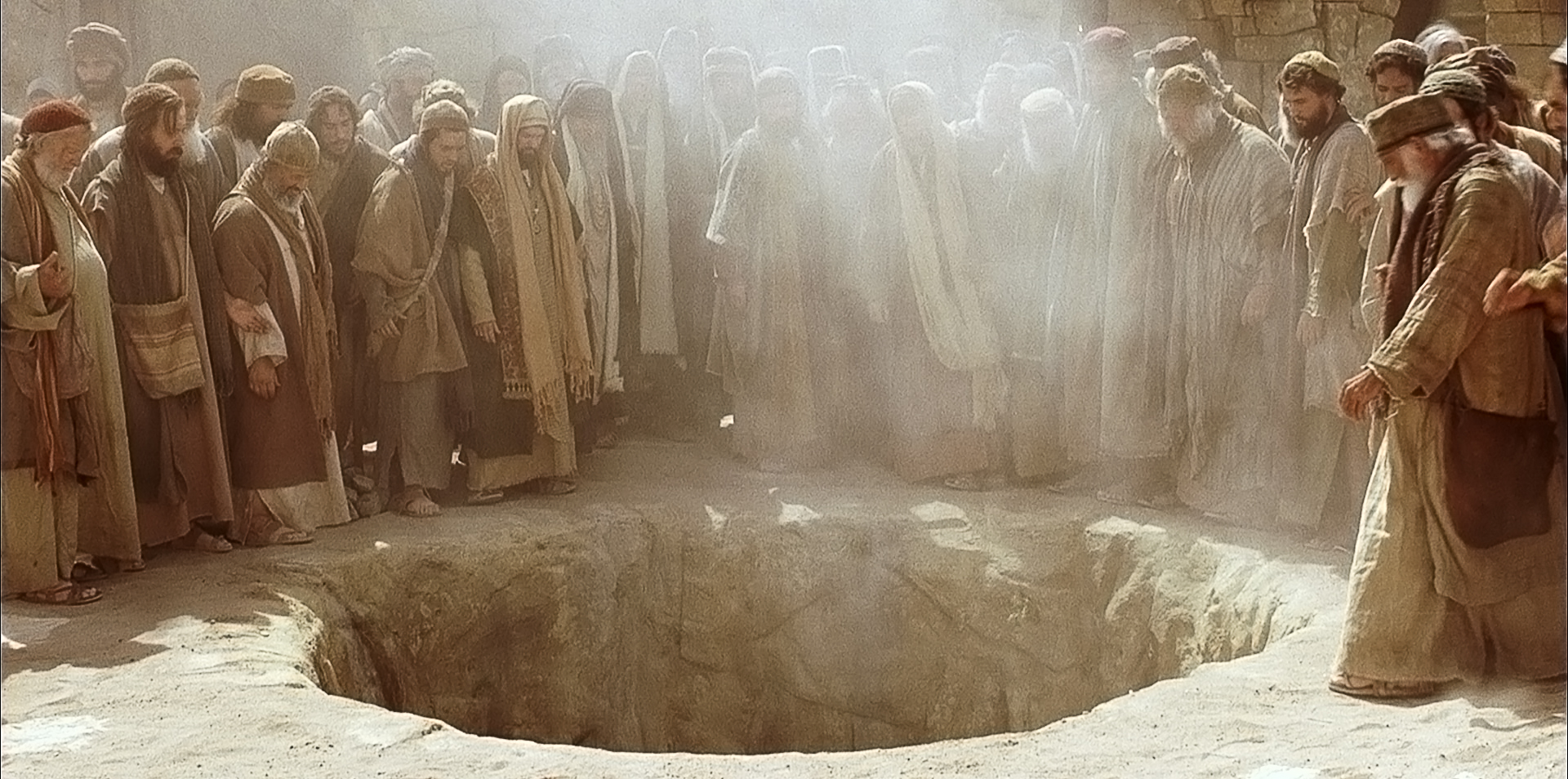 Stephen is cast out by the people to be stoned.