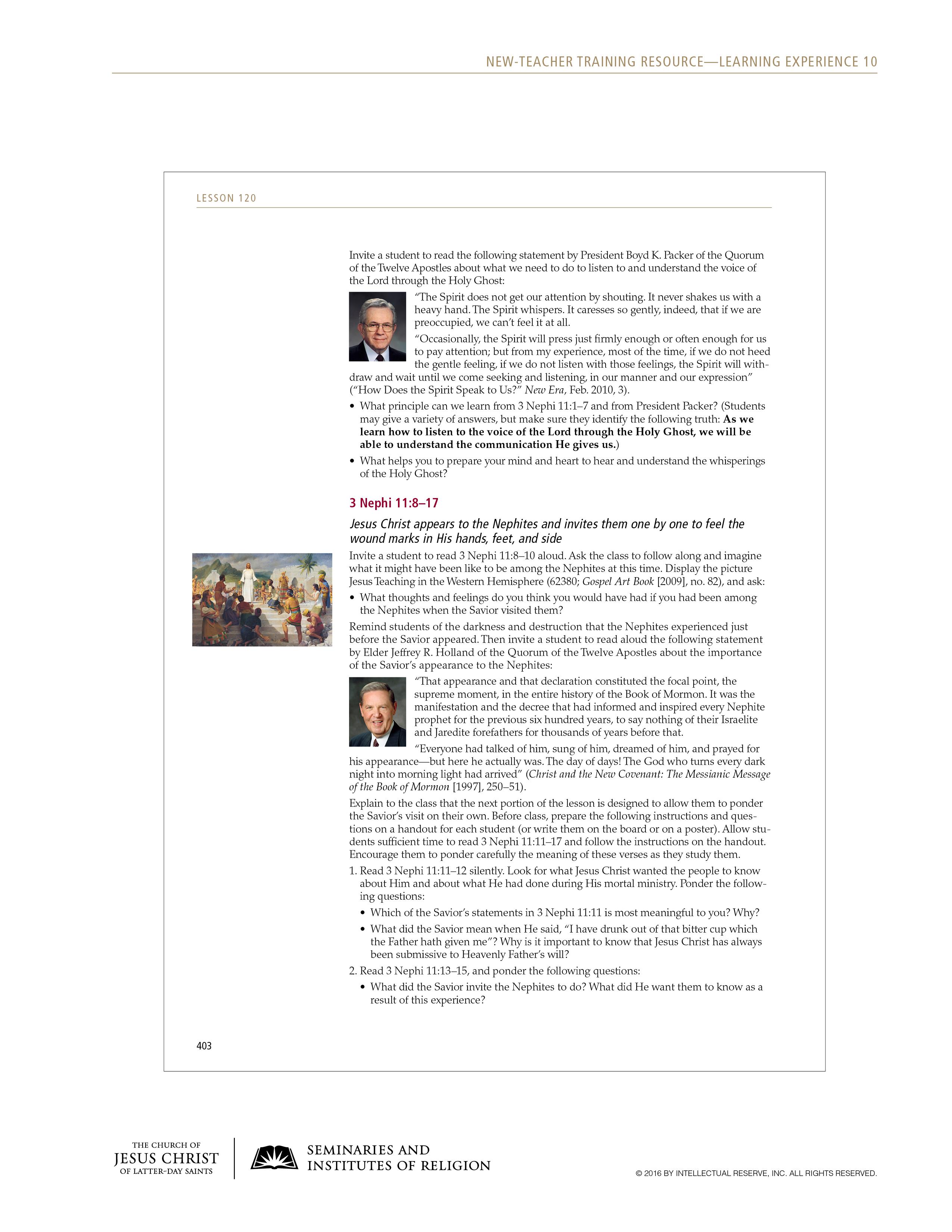 handout, Sample Lesson, page 2