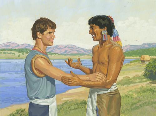 Lamanite and Nephite talking