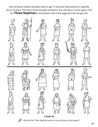 The Twelve Nephite Disciples coloring page