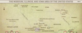 Church History Maps: The Missouri, Illinois, and Iowa Area of the United States