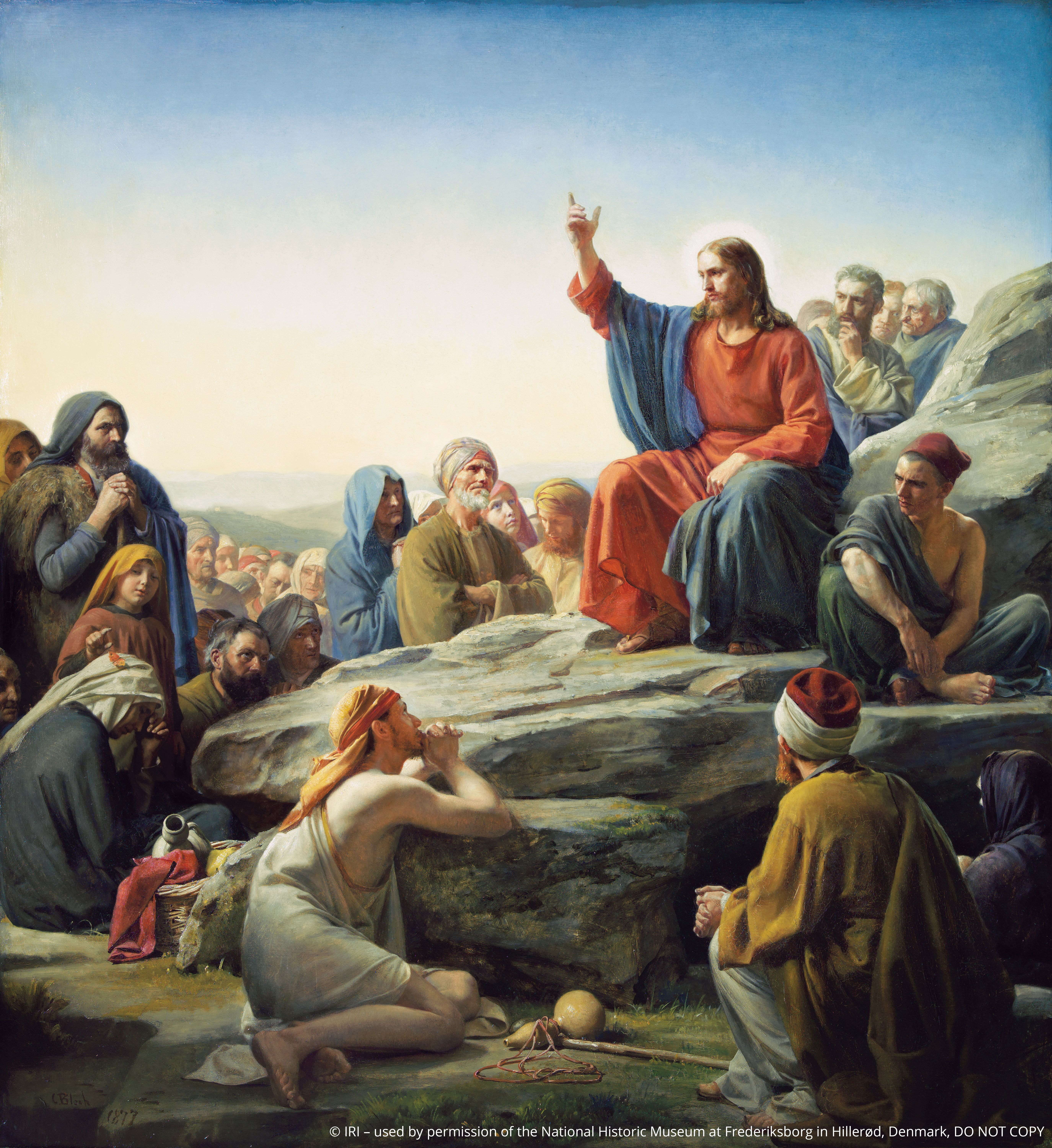 The Sermon on the Mount, by Carl Heinrich Bloch; GAB 39; Matthew 5–7; © IRI, used by permission of the National Historic Museum at Frederiksborg in Hillerød, Denmark. DO NOT COPY. This asset is for Church use and online viewing only.