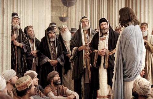 El Salvador con los fariseos y escribas