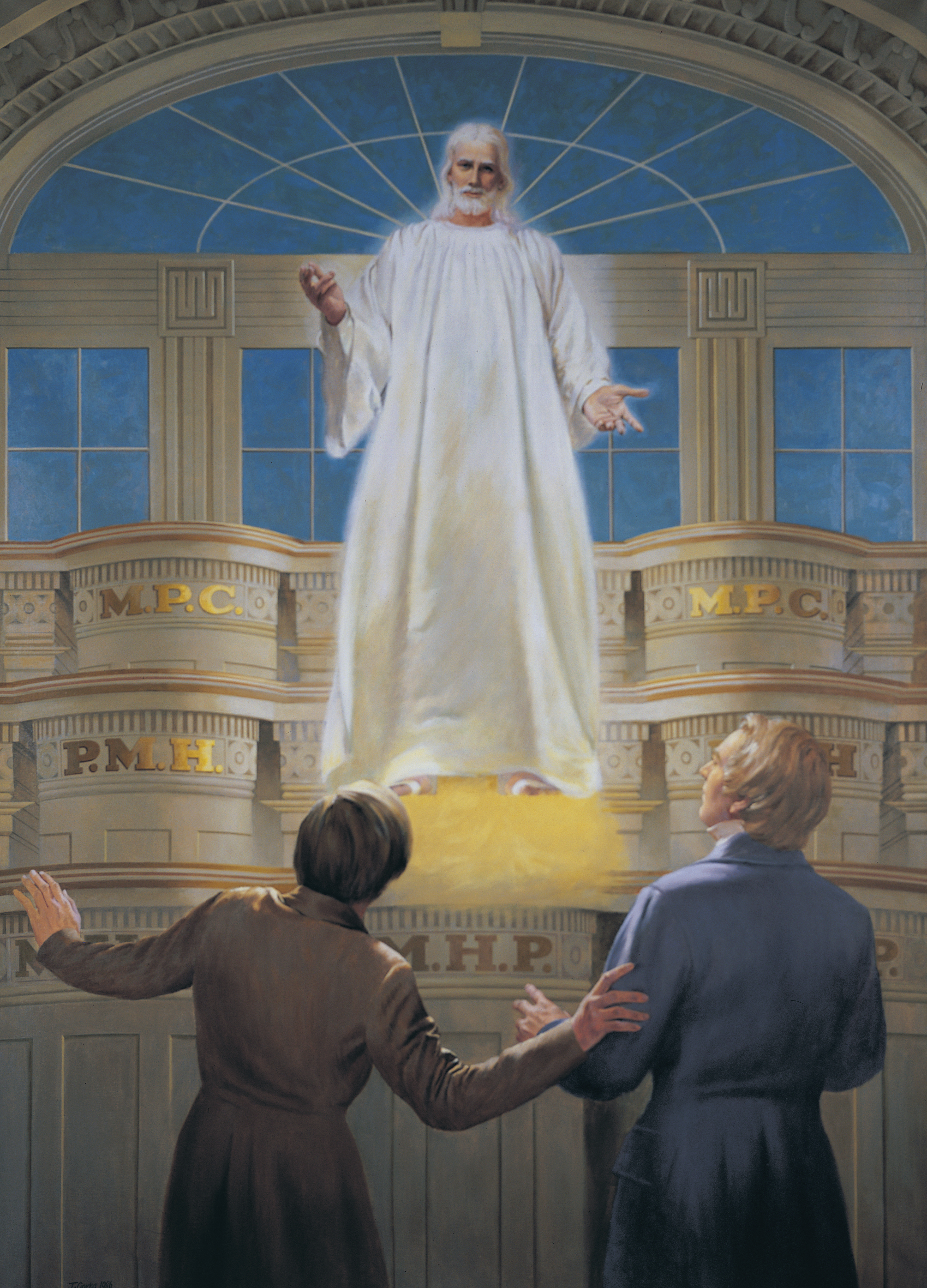 The Lord's Appearance to Joseph Smith and Oliver Cowdery in the Kirtland Temple, by Theodore S. Gorka