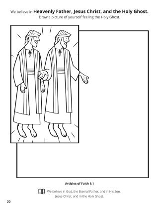 First Article of Faith coloring page