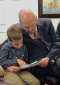 President Russell M. Nelson with grandson