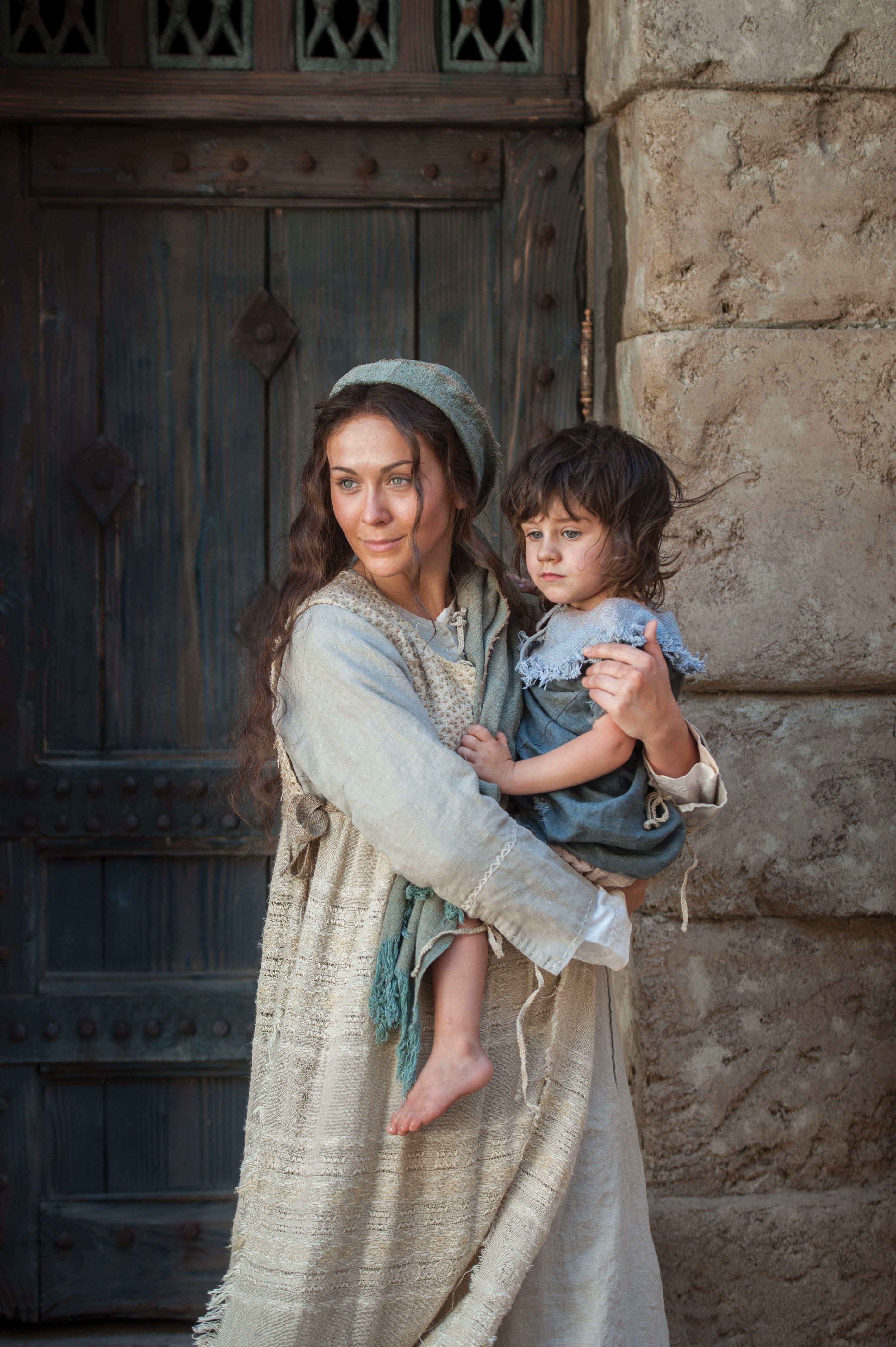 A portrait of Mary and the young Christ child at the time the Wise Men brought gifts.