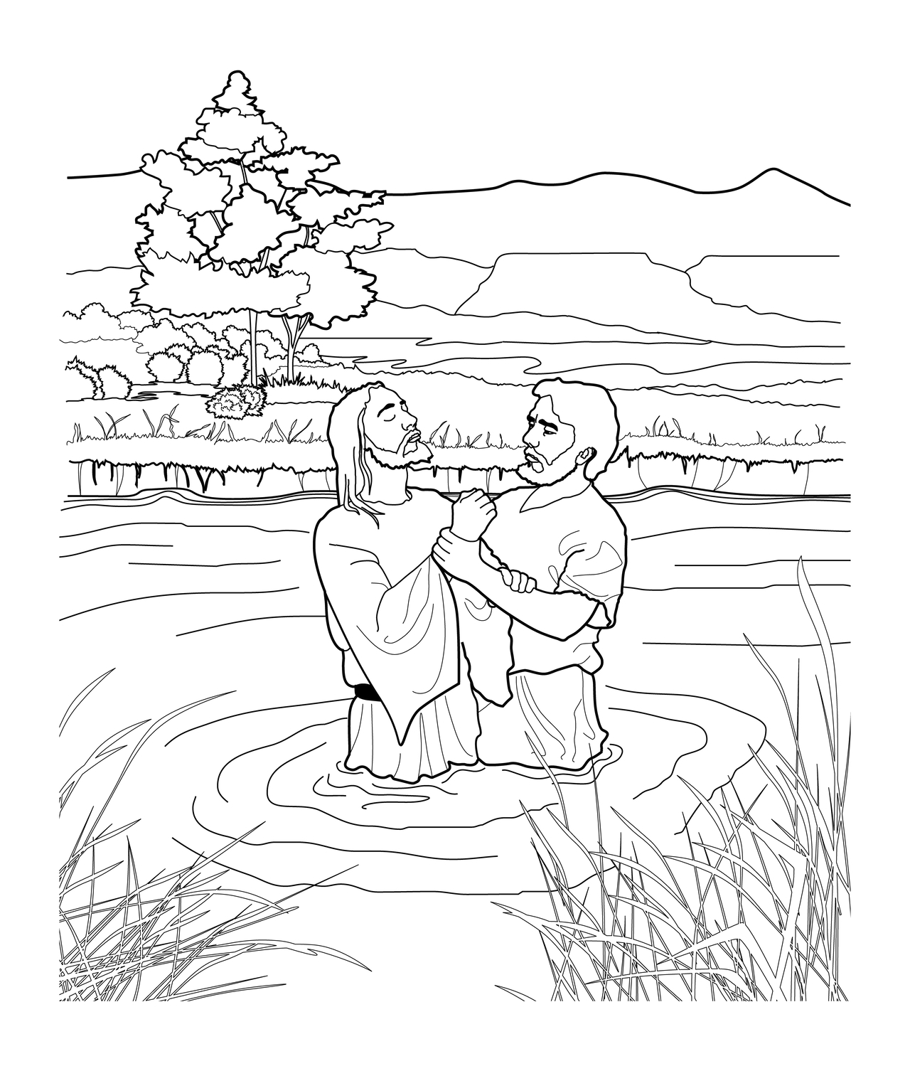 Baptism #99 (Holidays and Special occasions) – Printable coloring ... | 1506x1280