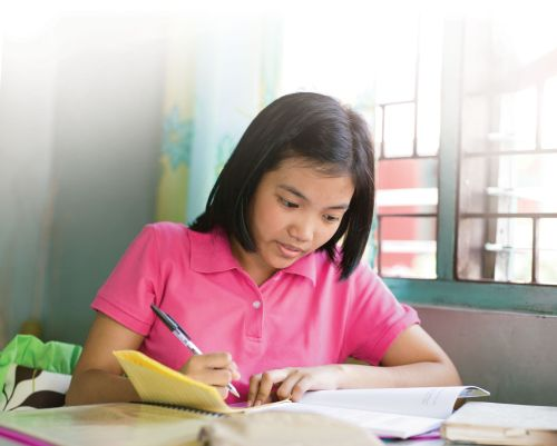Reading and study. Youth. Female