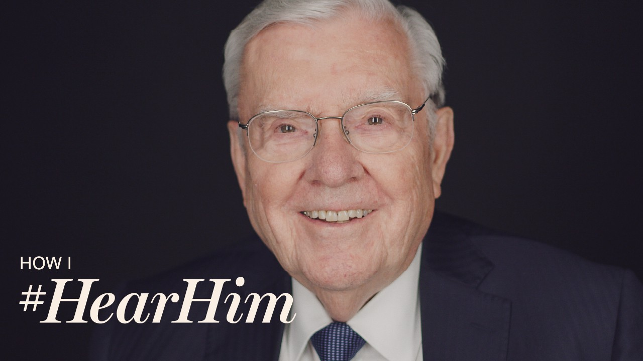 How do you #HearHim? President M. Russell Ballard says finding peace amid the chaos of life can bring you closer to heaven.