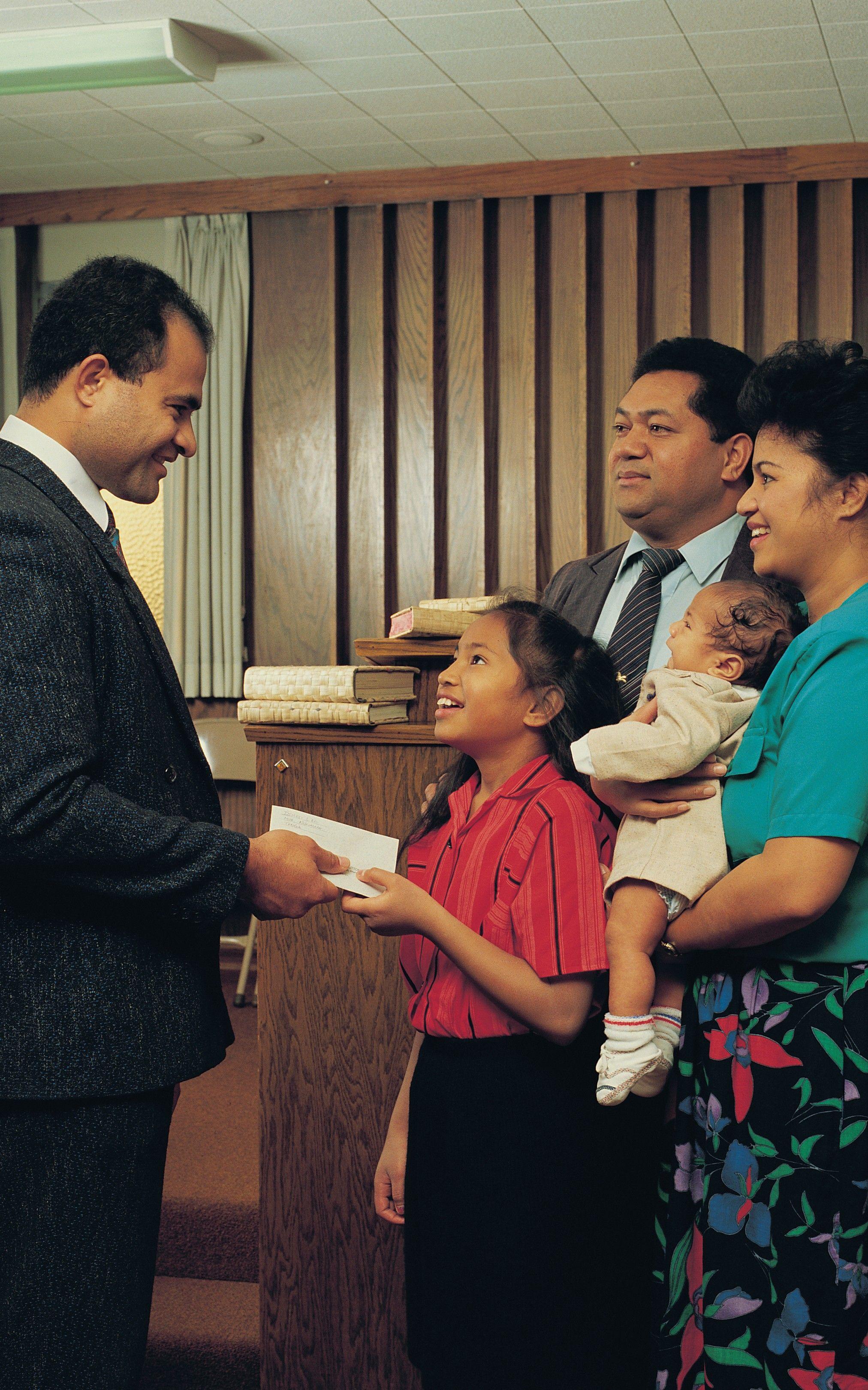 Payment of Tithing, by Steve Bunderson; GAB 113; Genesis 14:18–20; Malachi 3:8–11; Alma 13:15
