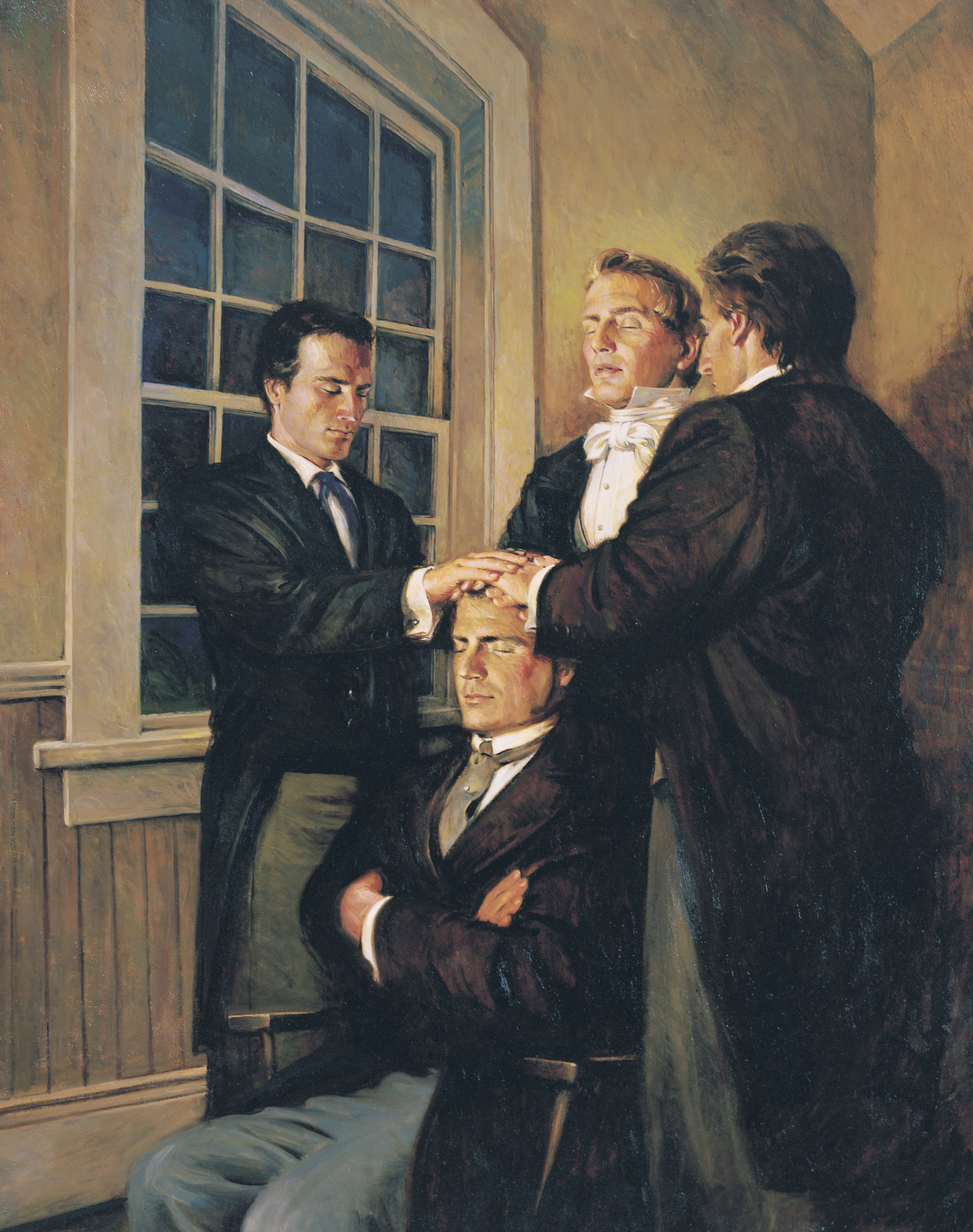 Joseph Smith Ordaining Parley P. Pratt as an Apostle, by Walter Rane