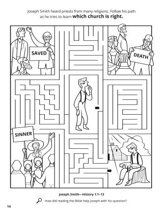Joseph Smith Wanted to Know Which Church Was Right coloring page