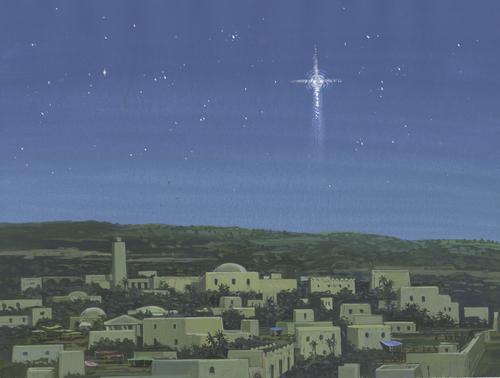 star above Bethlehem