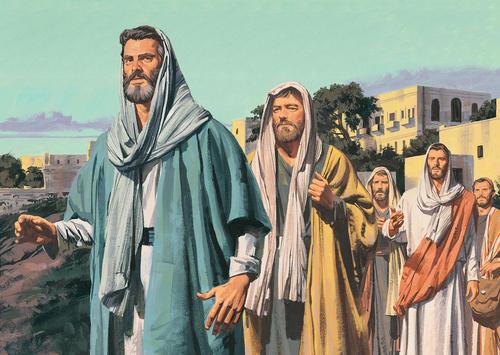 Jesus and Apostles walking