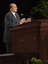 President Thomas S. Monson at pulpit