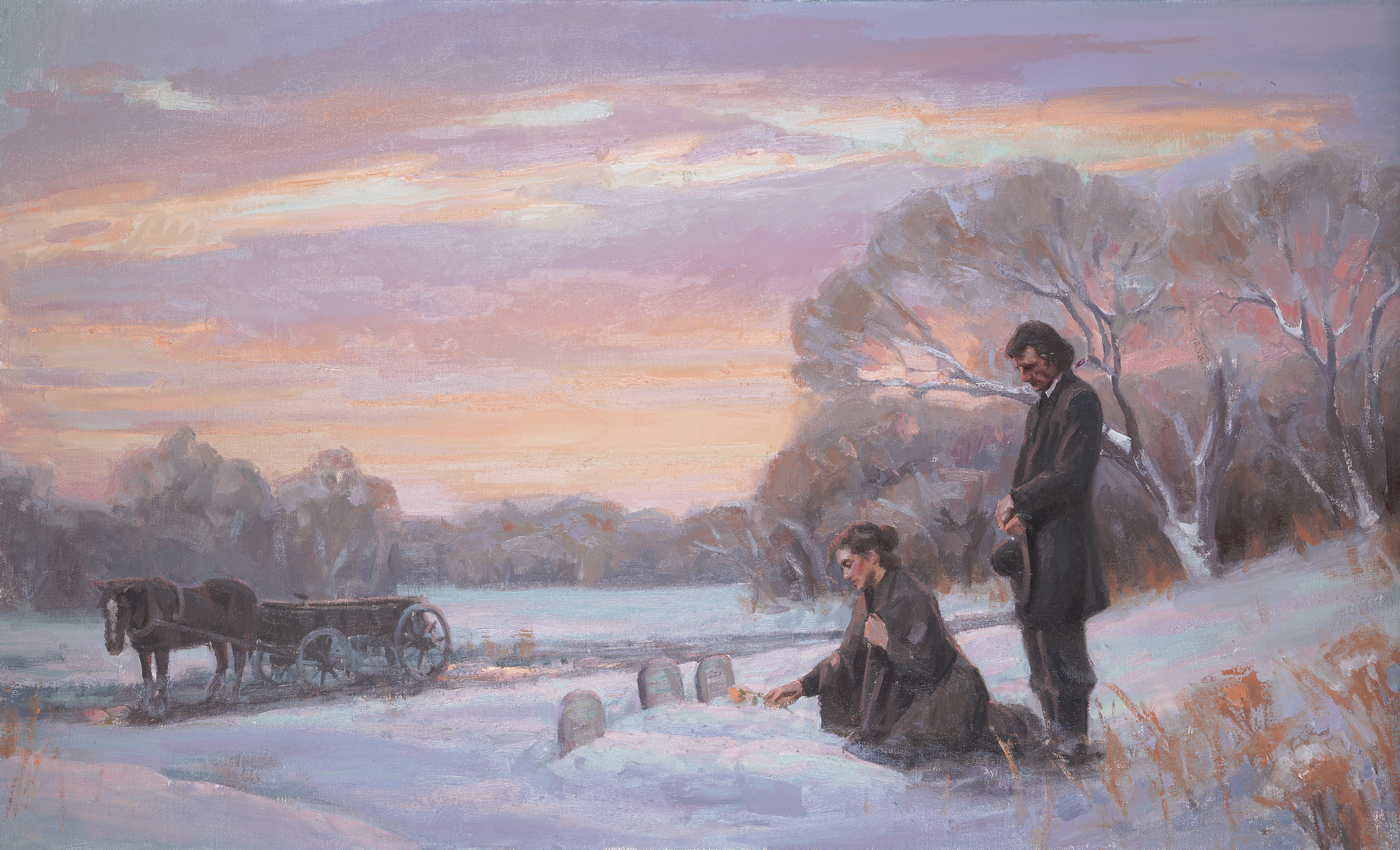 Pioneer Couple at Graves, by Michael T. Malm