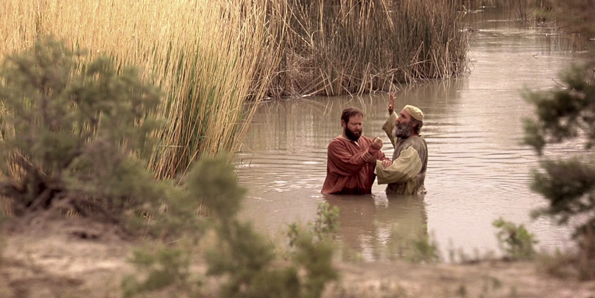Saul is baptized by Ananias and called Paul. © undefined ipCode 1.