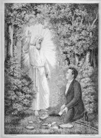 Moroni delivers the plates