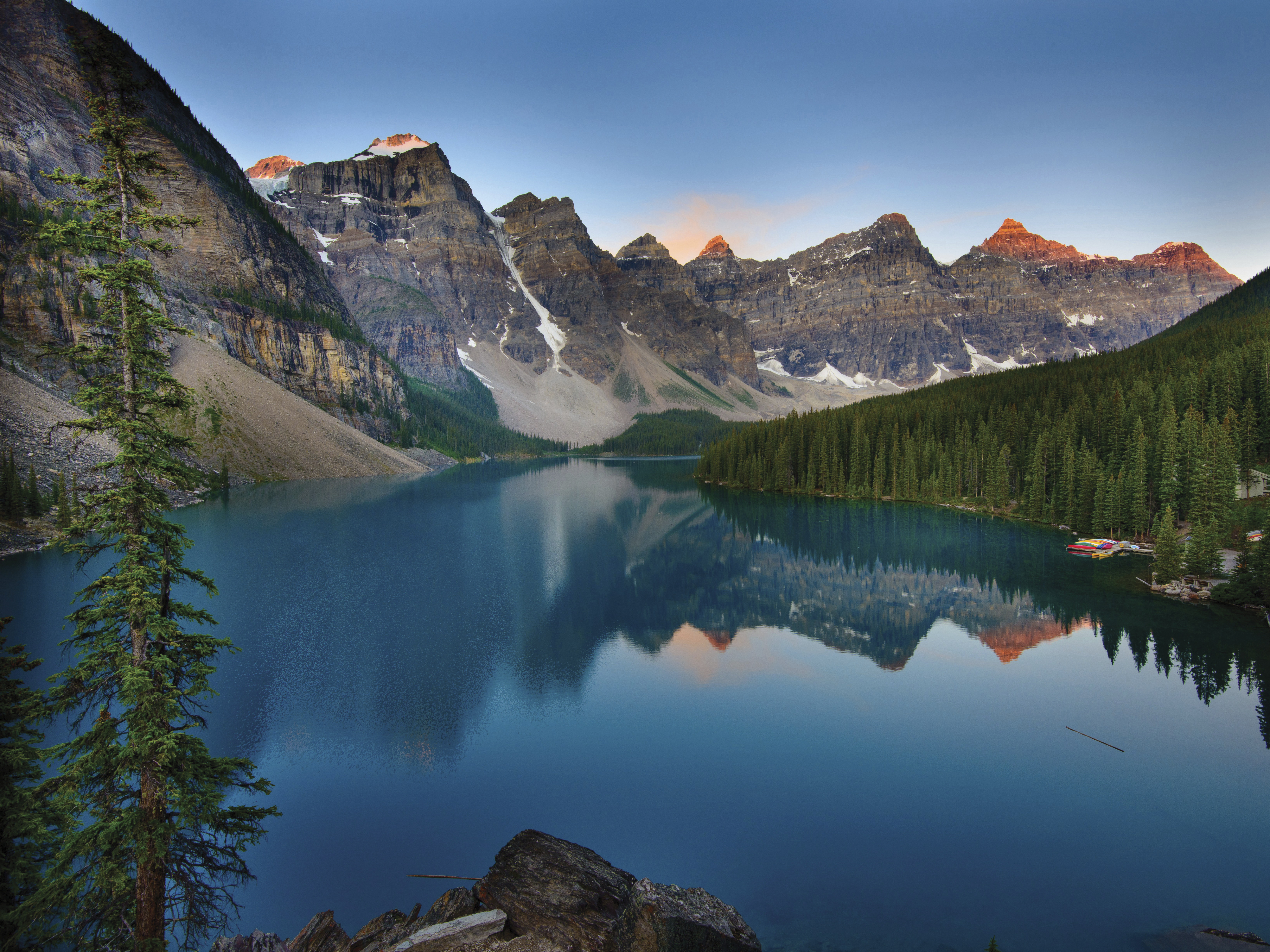 A view of Moraine Lake in Canada.