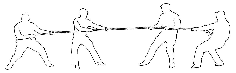 drawing, tug-of-war