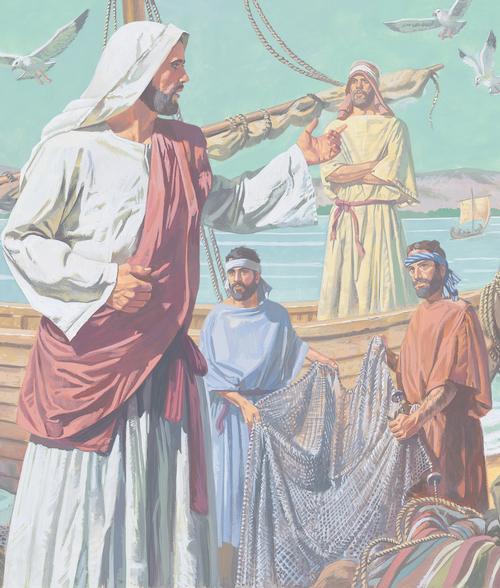 Jesus teaching fishermen