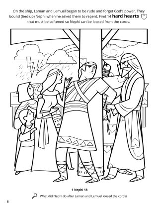 Laman and Lemuel Bound Nephi coloring page