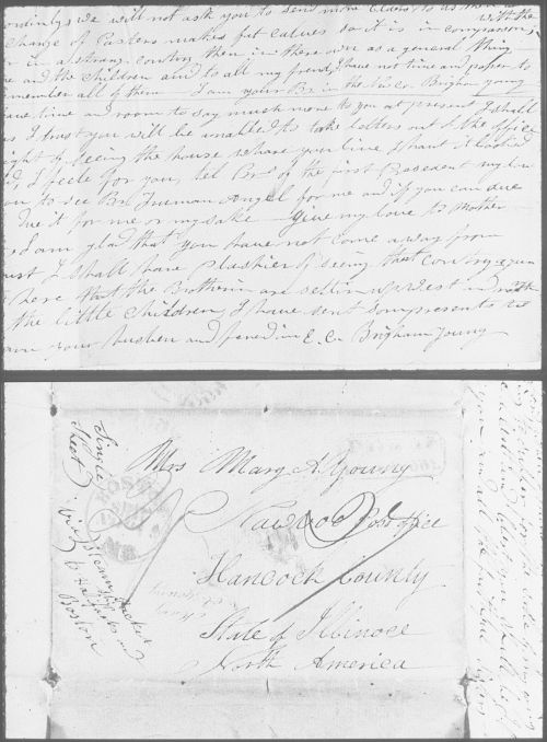 Brigham Young's letter to Mary Ann Angell