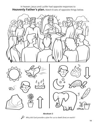 Responses to Heavenly Father's Plan coloring page