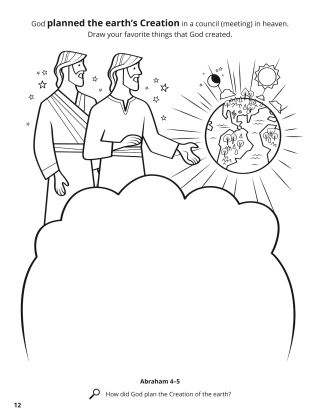 God Planned the Creation coloring page