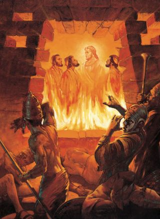 Three Men in the Fiery Furnace (Shadrach, Meshach, and Abednego in the Fiery Furnace)