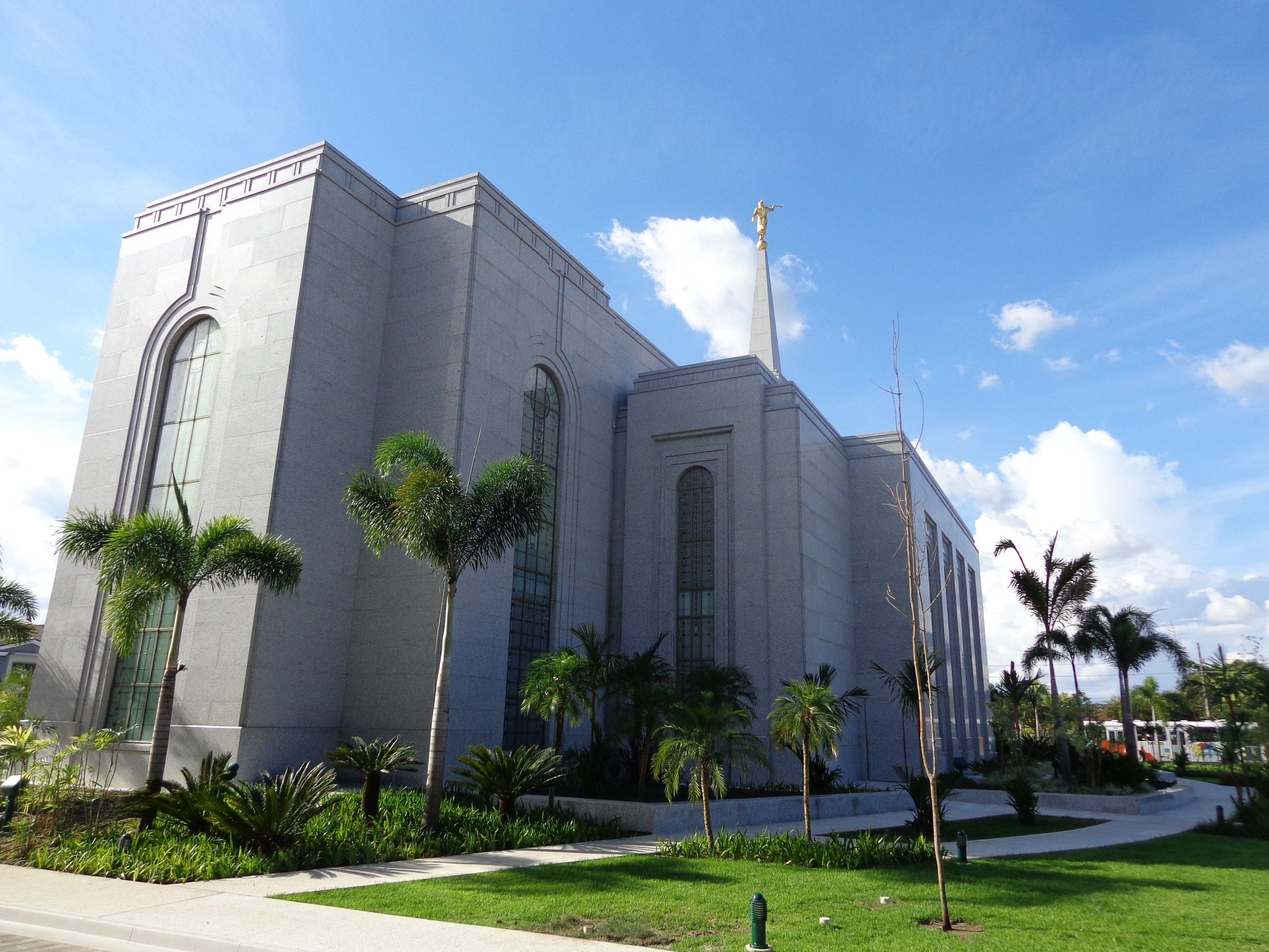 The Manaus Brazil Temple back view, including scenery.