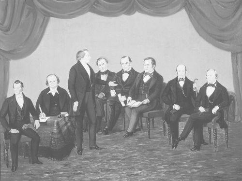 Joseph Smith with Church Leaders in Nauvoo