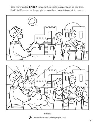 Enoch and the People of Zion coloring page