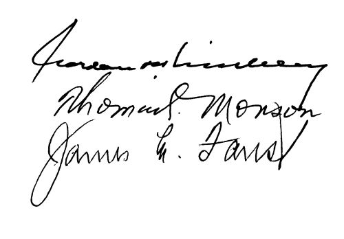 First Presidency. 1995. Signatures