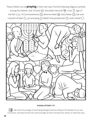 Eleventh Article of Faith coloring page
