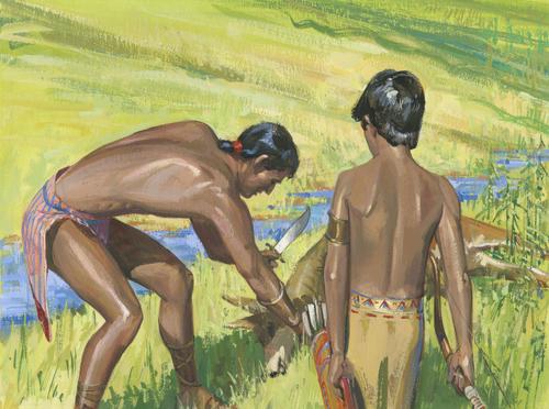 dark-skinned Lamanites
