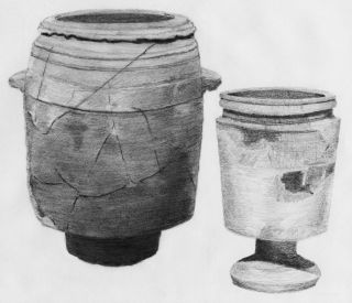 First Century AD Limestone Pots