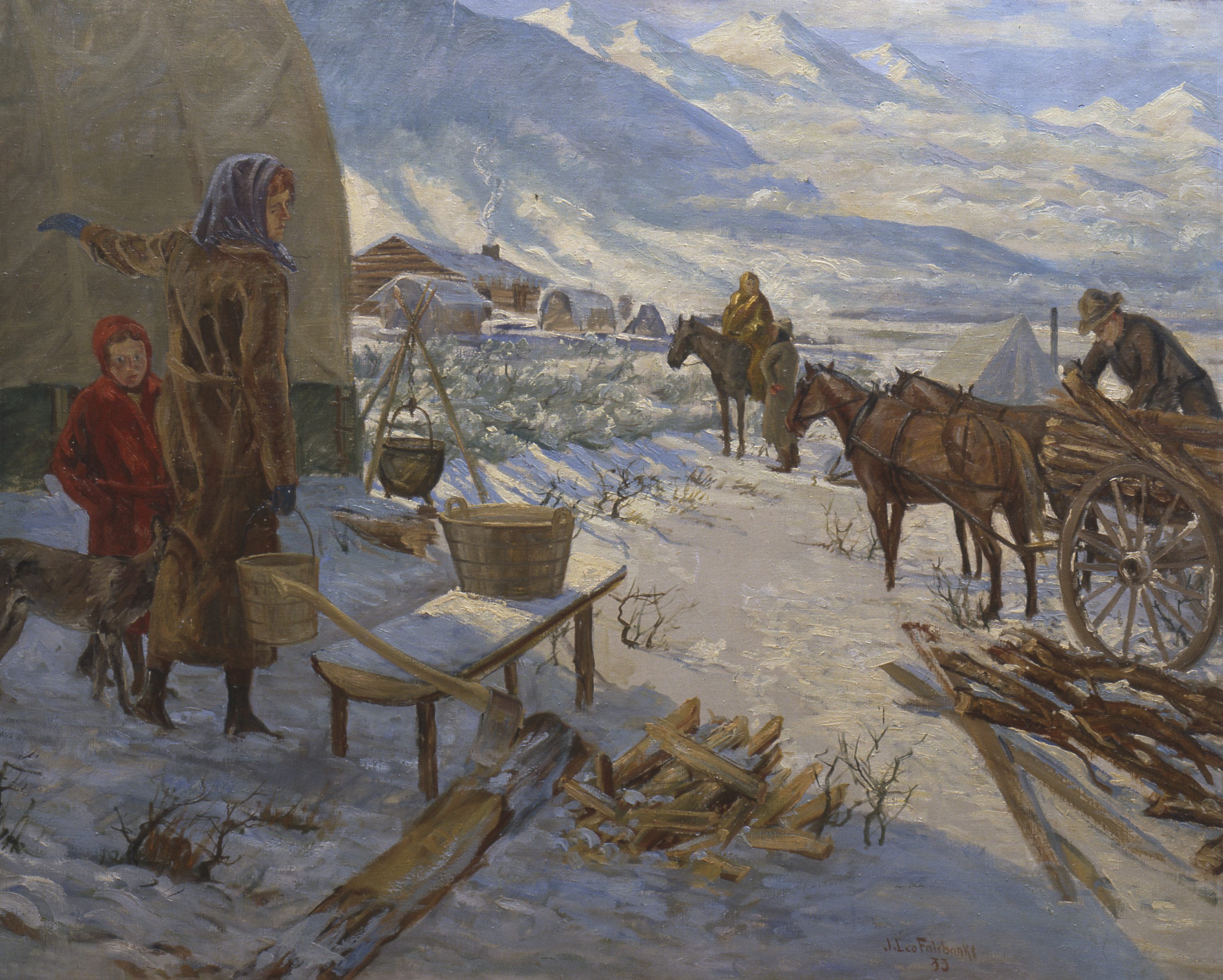 First Winter in the Valley, by Jonathan Leo Fairbanks