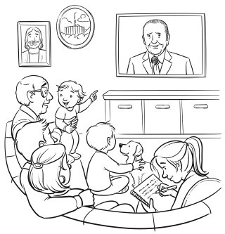 Coloring Page: We Listen to our Prophet Today