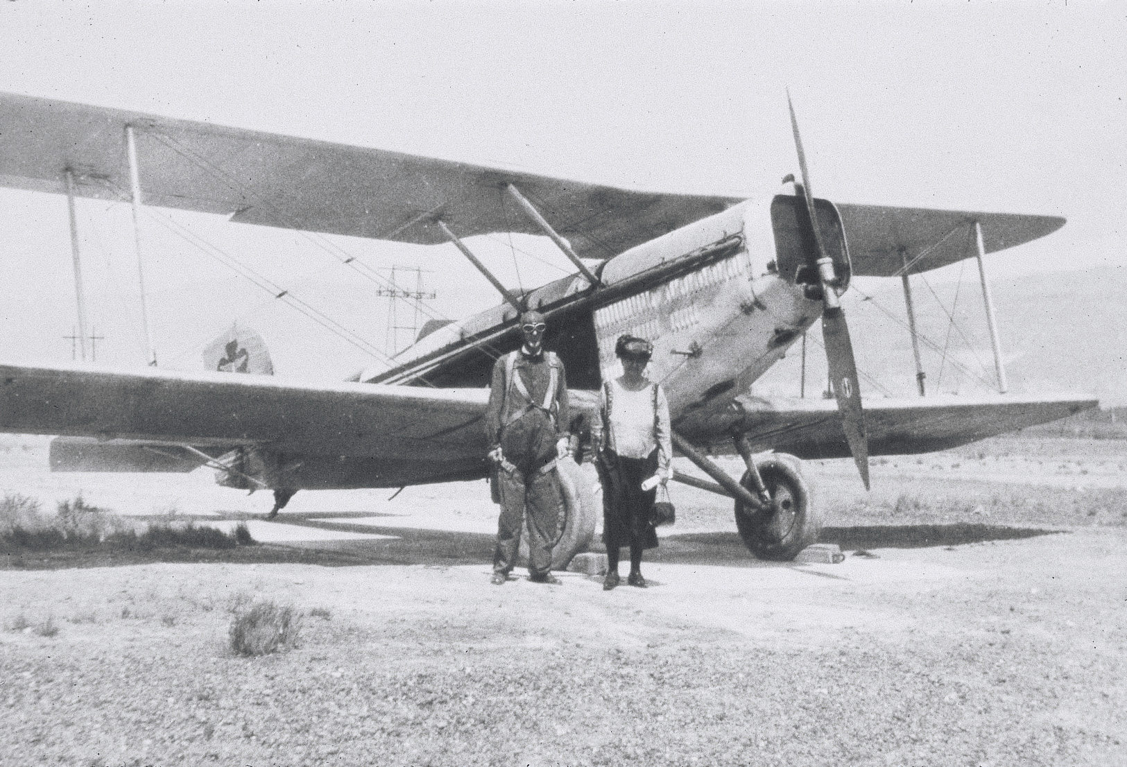 George Albert Smith and his wife standing in front of an airplane. Teachings of Presidents of the Church: George Albert Smith (2011), 112