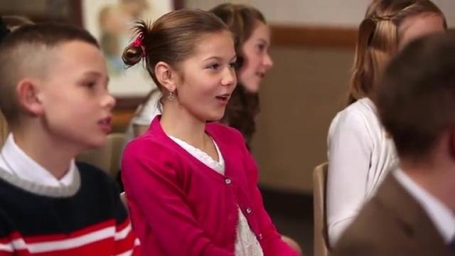 Primary children sing