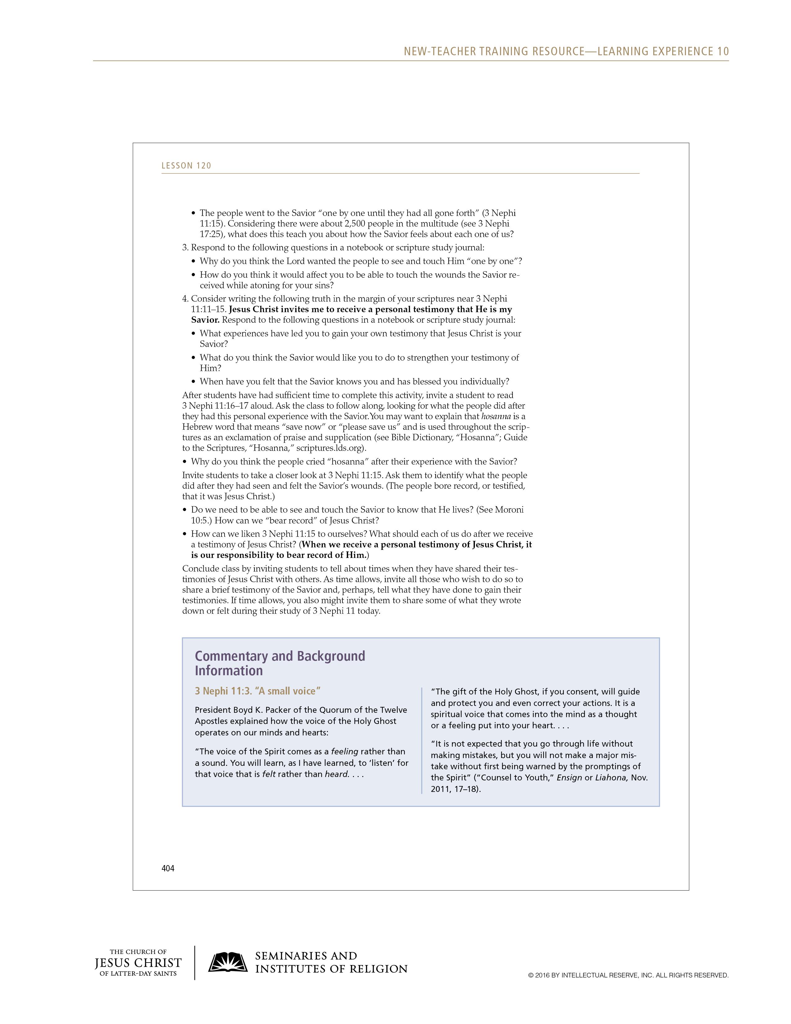 handout, Sample Lesson, page 3