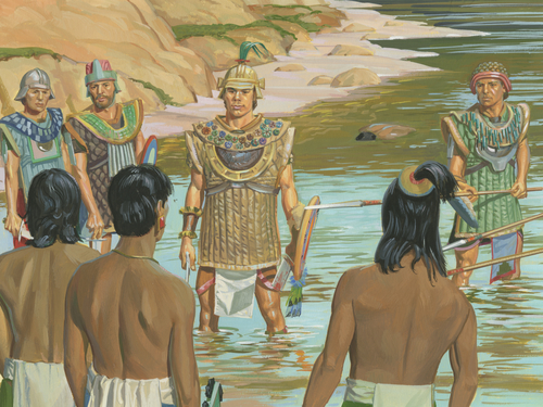 Nephites facing Lamanites