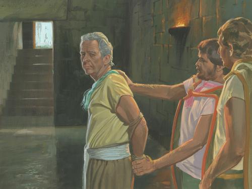 Abinadi being taken prisoner