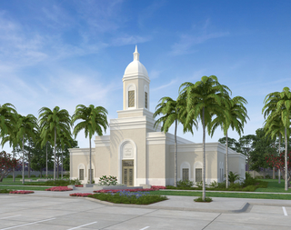 A rendering of the temple in Praia, Cape Verde.