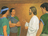 Christ speaking with disciples